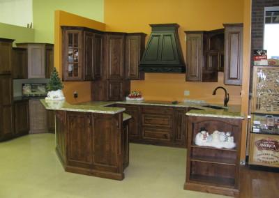 Kitchen display at Home Lumber, Winfield, Kansas.