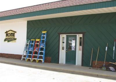 Store Exterior, Home Lumber, Caldwell, Kansas.