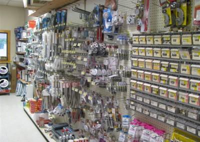 Plumbing accessories, Home Lumber, Coldwater, Kansas.