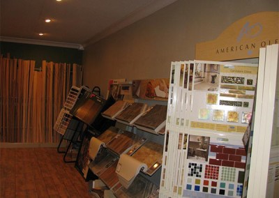 Floor covering displays at Home Lumber, Sterling.