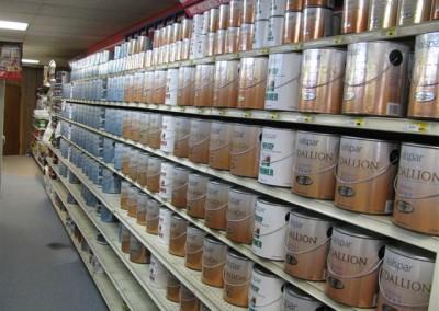 Paint department, Home Lumber, Meade, Kansas.