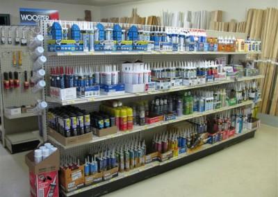 Paint sundries at Home Lumber, Medicine Lodge, Kansas.