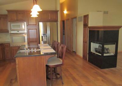 Kitchen designed and furnished by Home Lumber, Pratt, Kansas.