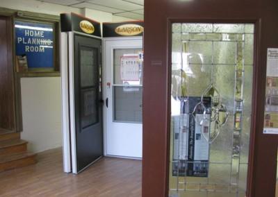Door displays at Home Lumber, Pratt, Kansas.