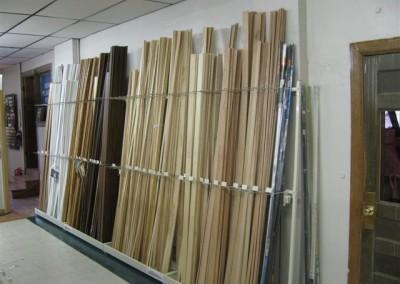Molding racks at Home Lumber, Sterling.